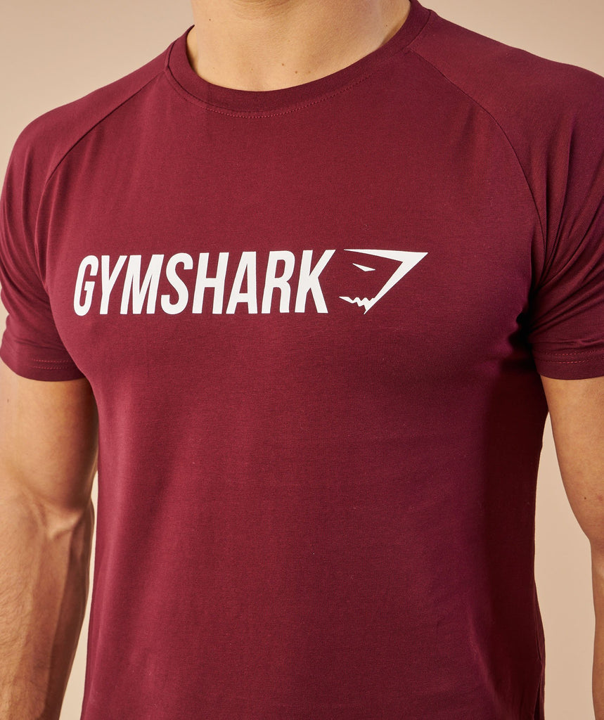 Gymshark Apollo T-Shirt - Port/White 6