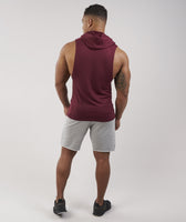 Gymshark Drop Arm Sleeveless Hoodie - Port 9
