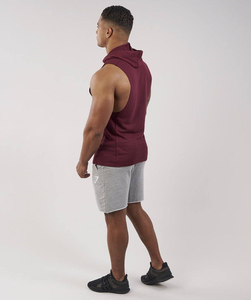 Gymshark Drop Arm Sleeveless Hoodie - Port 5