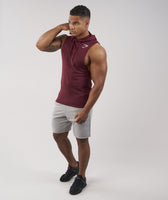Gymshark Drop Arm Sleeveless Hoodie - Port 10