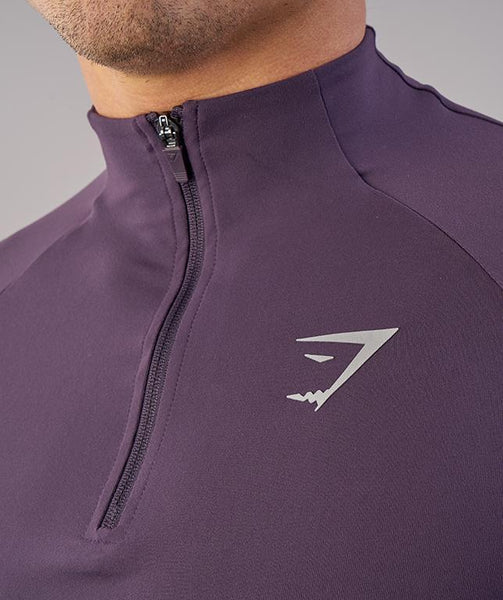 Gymshark Edge 1/4 Zip Pullover - Nightshade Purple 4