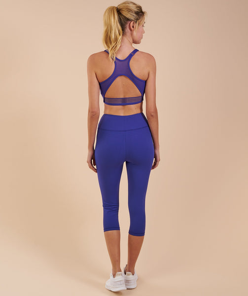Gymshark Dreamy Cropped Leggings - Indigo 1
