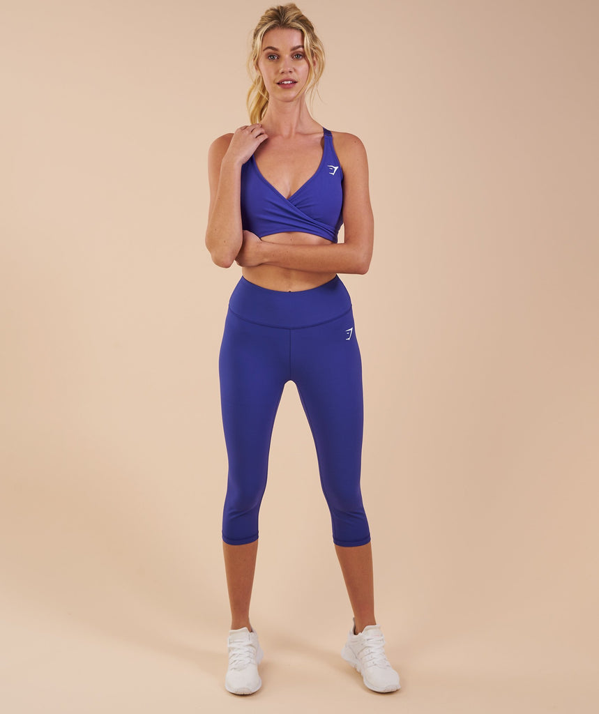 Gymshark Dreamy Cropped Leggings - Indigo 4