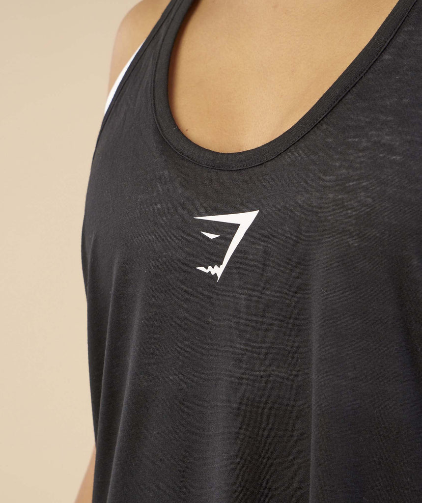 Gymshark Open Back Vest - Black 5