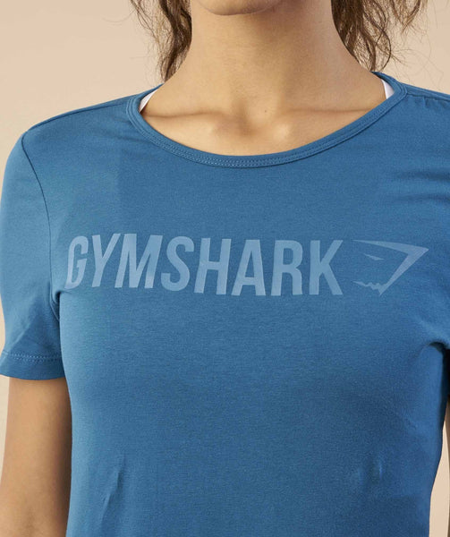 Gymshark Apollo T-Shirt - Petrol Blue 4