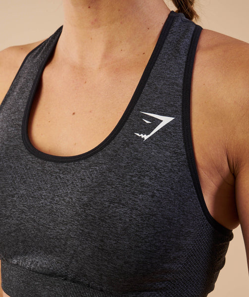 Gymshark Vital Seamless Sports Bra - Black Marl 4
