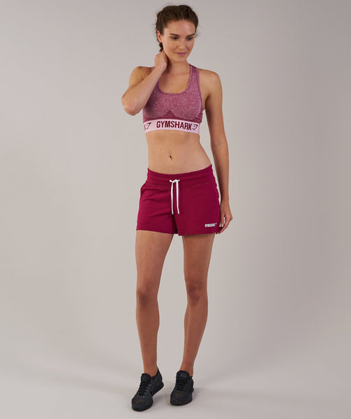 Gymshark Slouch Shorts - Beet Marl 2