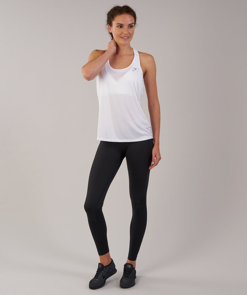 Gymshark T-Bar Vest - White 1