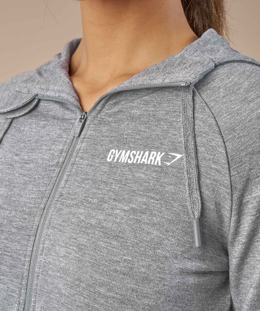 Gymshark Fit Zip Hoodie - Light Grey 5