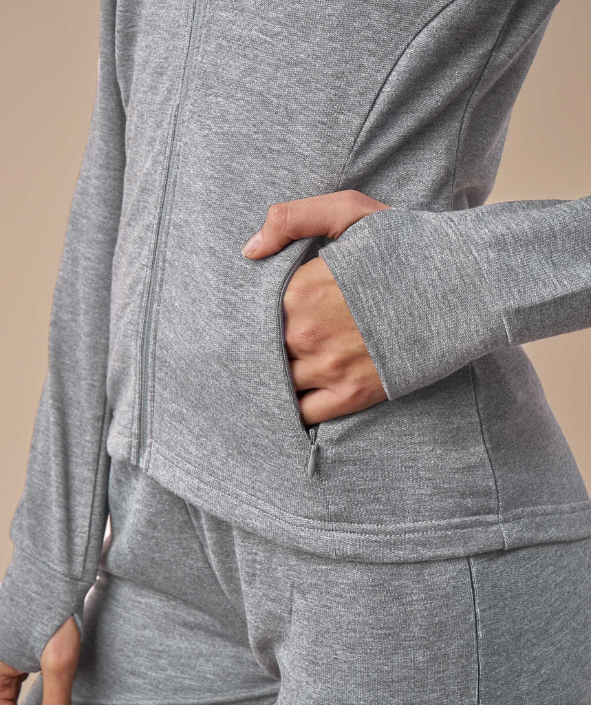 Gymshark Fit Zip Hoodie - Light Grey 6