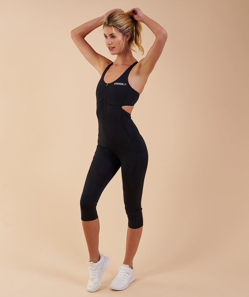 Gymshark Sports One Piece 7/8 - Black 1