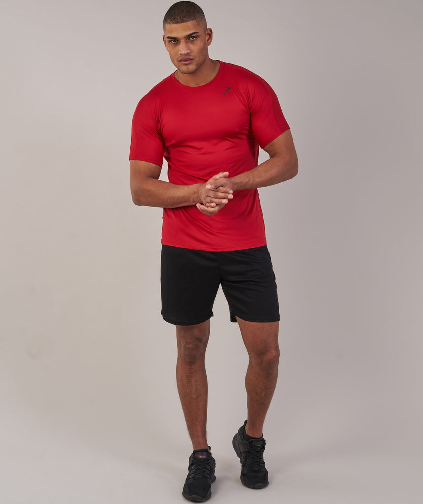 Gymshark Primary T-Shirt - Deep Red 4