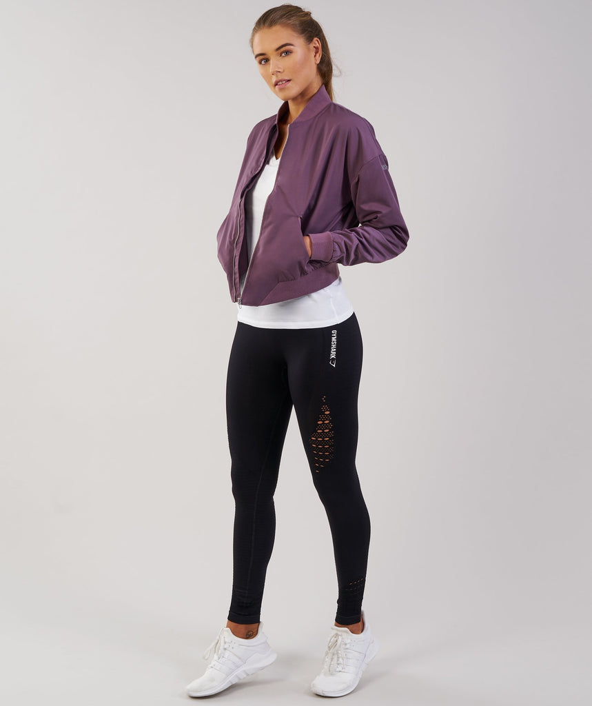 Gymshark Lo Bomber Jacket - Purple Wash 1
