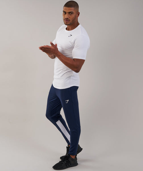 Gymshark Reactive Training Bottoms - Sapphire Blue/White 2