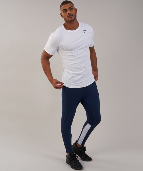 Gymshark Reactive Training Bottoms - Sapphire Blue/White 4