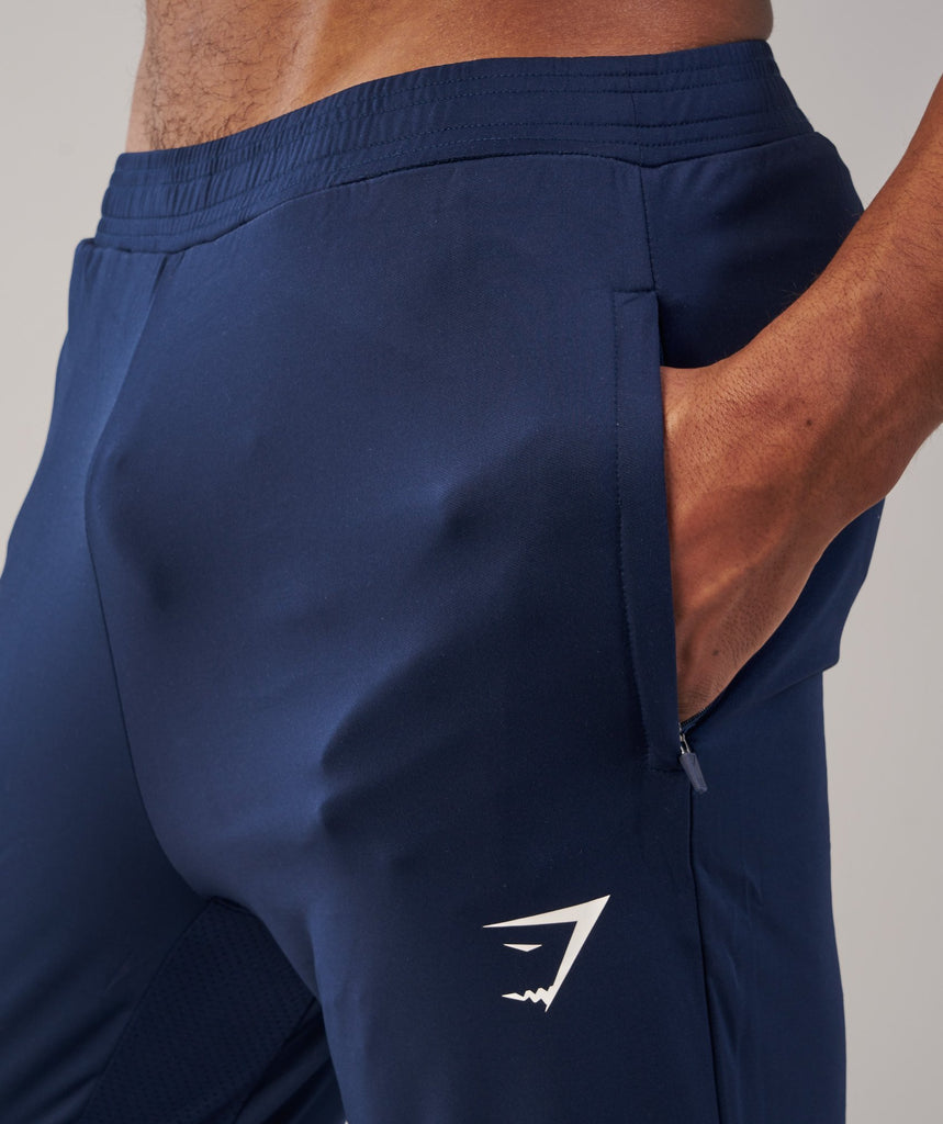 Gymshark Reactive Training Bottoms - Sapphire Blue/White 5