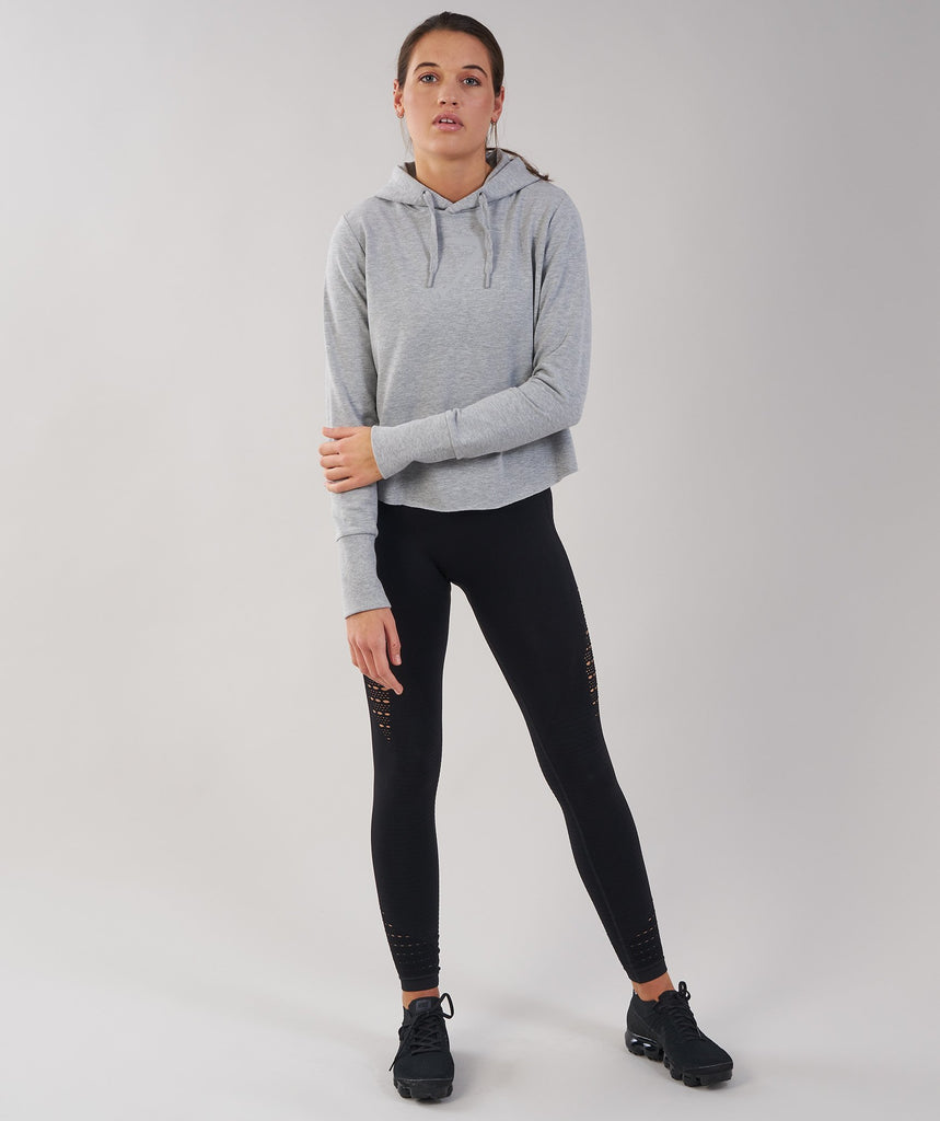 Gymshark Cross Back Hoodie - Light Grey Marl 1