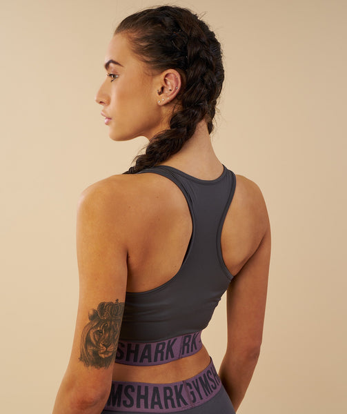 Gymshark Fit Sports Bra - Charcoal/Purple Wash 4