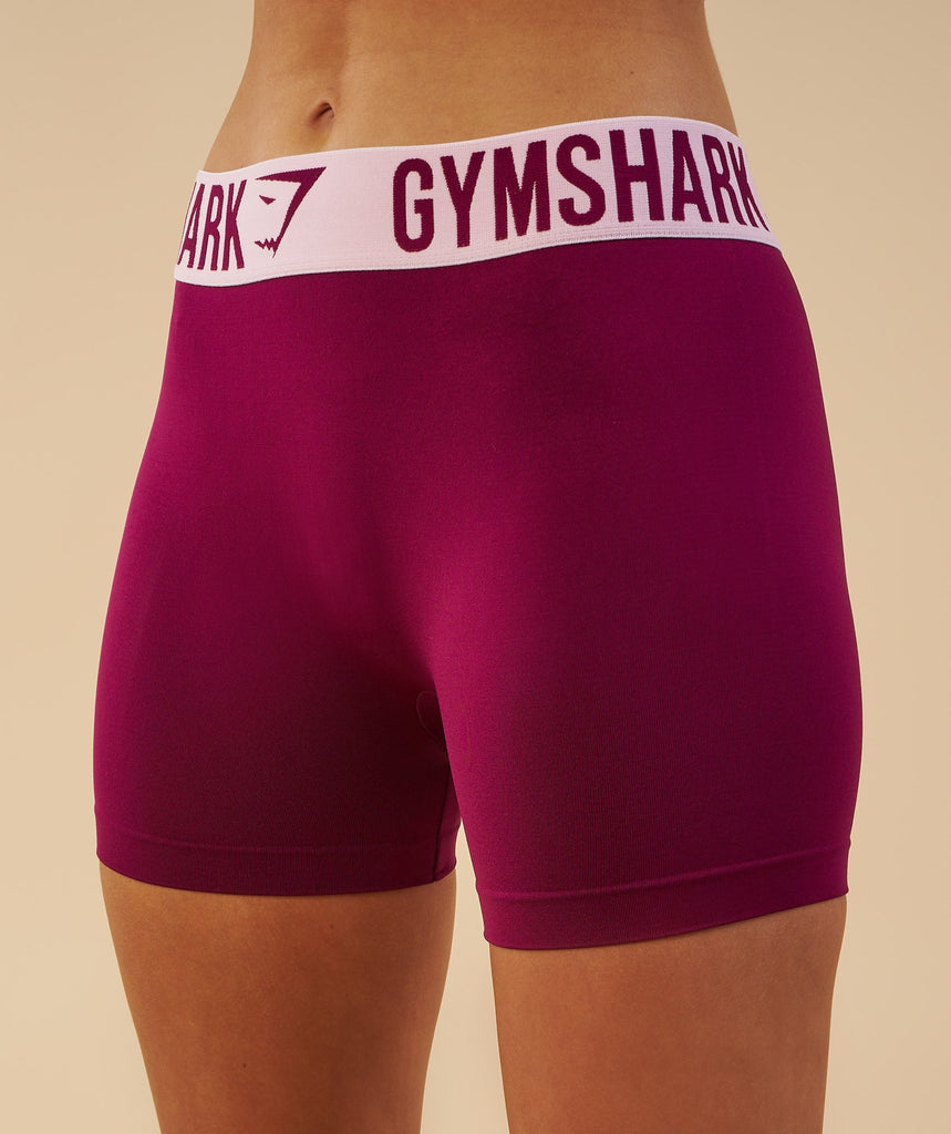 Gymshark Fit Shorts - Deep Plum/Chalk Pink 2