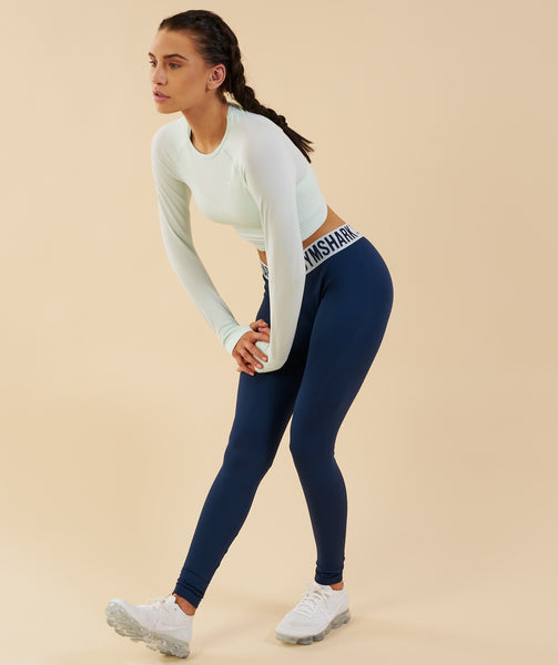 Gymshark Vital Seamless Long Sleeve Crop Top - Sea Foam Green 3