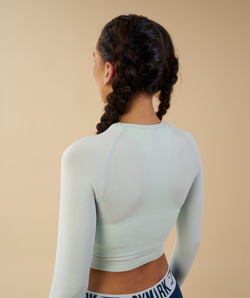 Gymshark Vital Seamless Long Sleeve Crop Top - Sea Foam Green 6