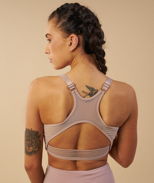 Gymshark Elite Sports Bra - Taupe 3