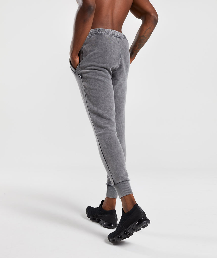 Gymshark Acid Wash Bottoms - Light Grey 2