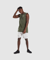 Gymshark Acid Wash Drop Arm Sleeveless T-Shirt - Alpine Green 10