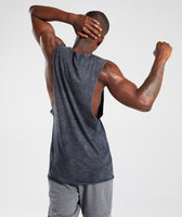 Gymshark Acid Wash Drop Arm Sleeveless T-Shirt - Black 8