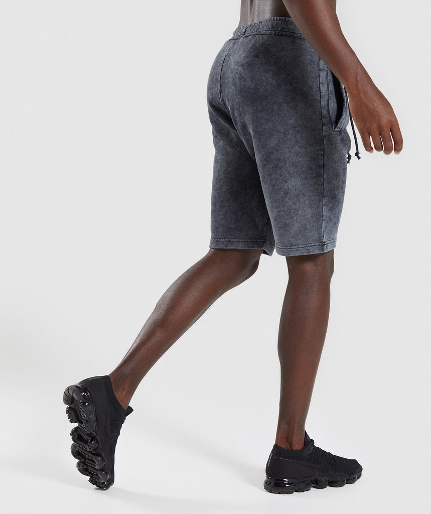Gymshark Acid Wash Shorts - Black 2