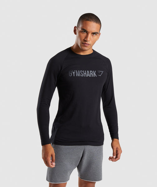 Gymshark Apollo Long Sleeve T-Shirt - Black 4