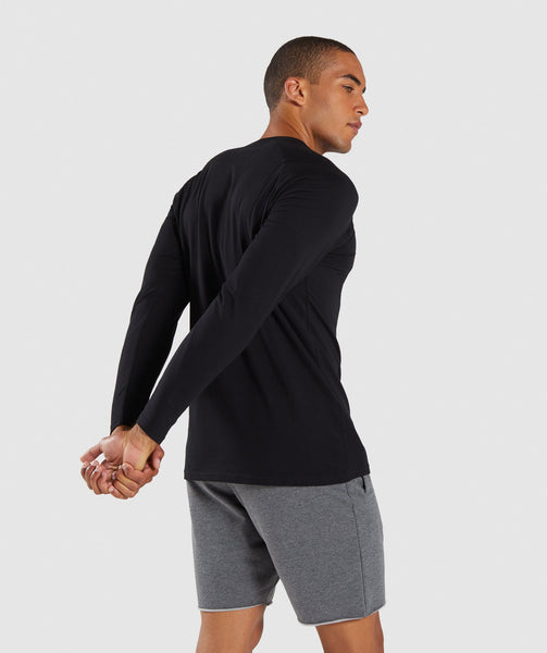 Gymshark Apollo Long Sleeve T-Shirt - Black 1