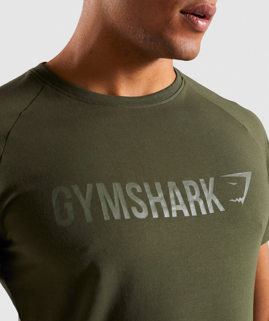 Gymshark Apollo T-Shirt - Woodland Green 5