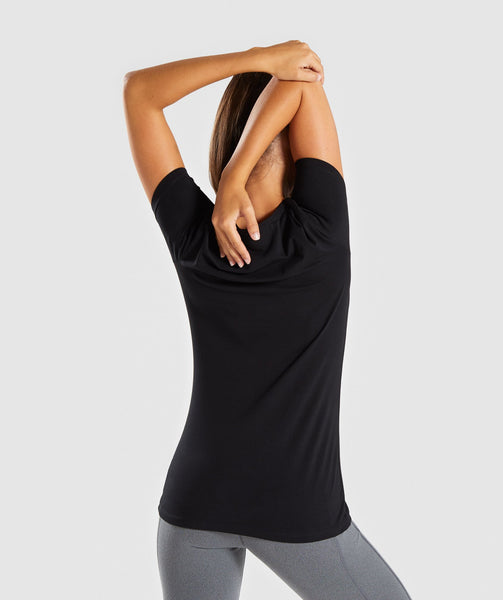 Gymshark Women's Apollo T-Shirt - Black 1