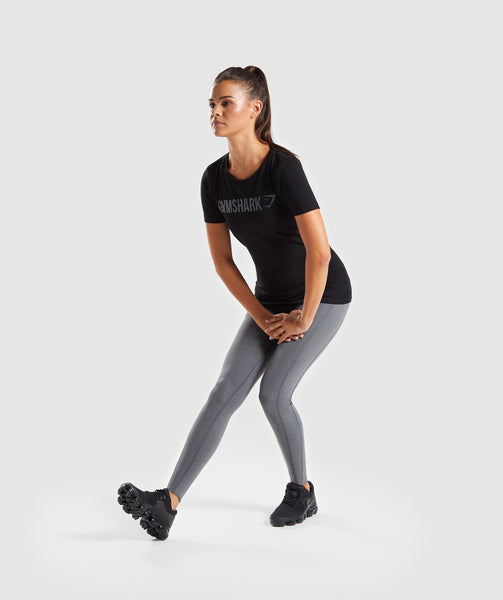 Gymshark Women's Apollo T-Shirt - Black 4