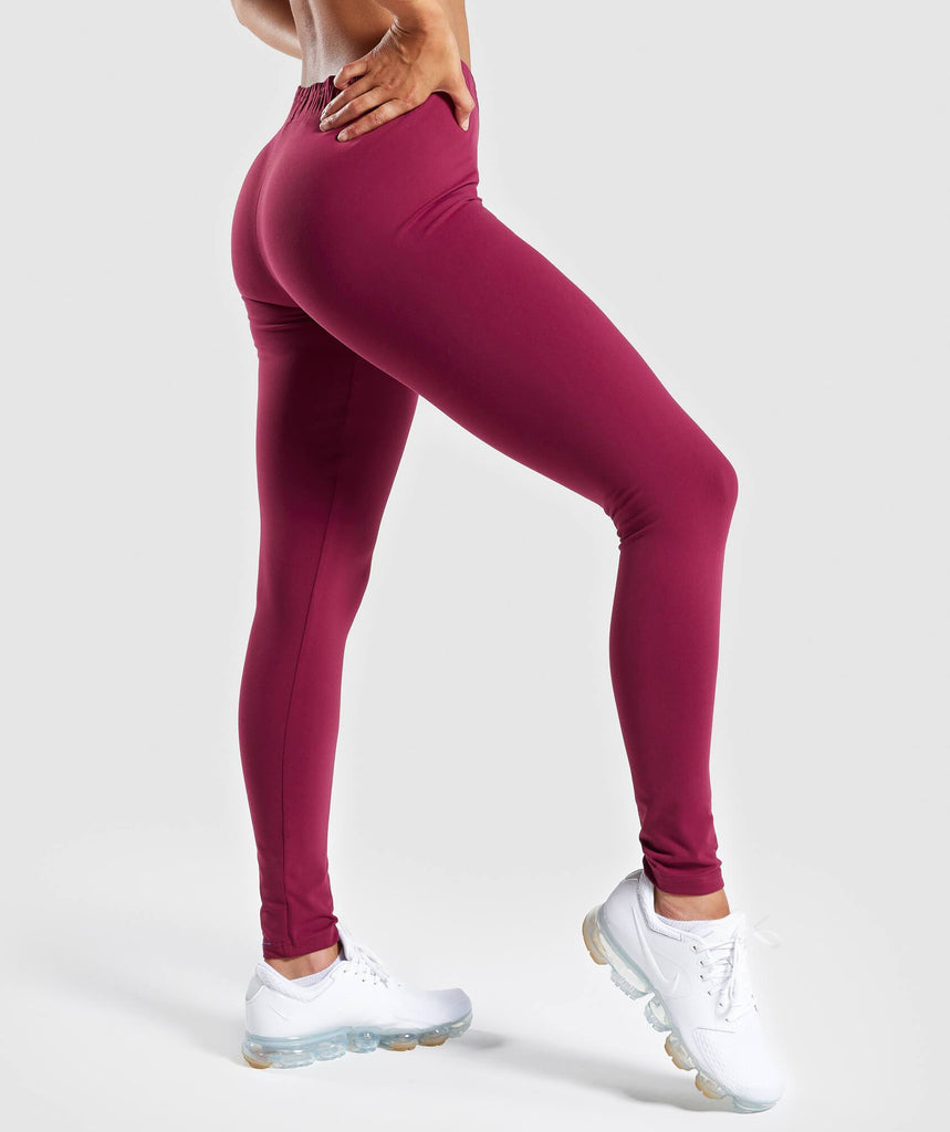 Gymshark Ark Jersey Leggings - Deep Plum 2