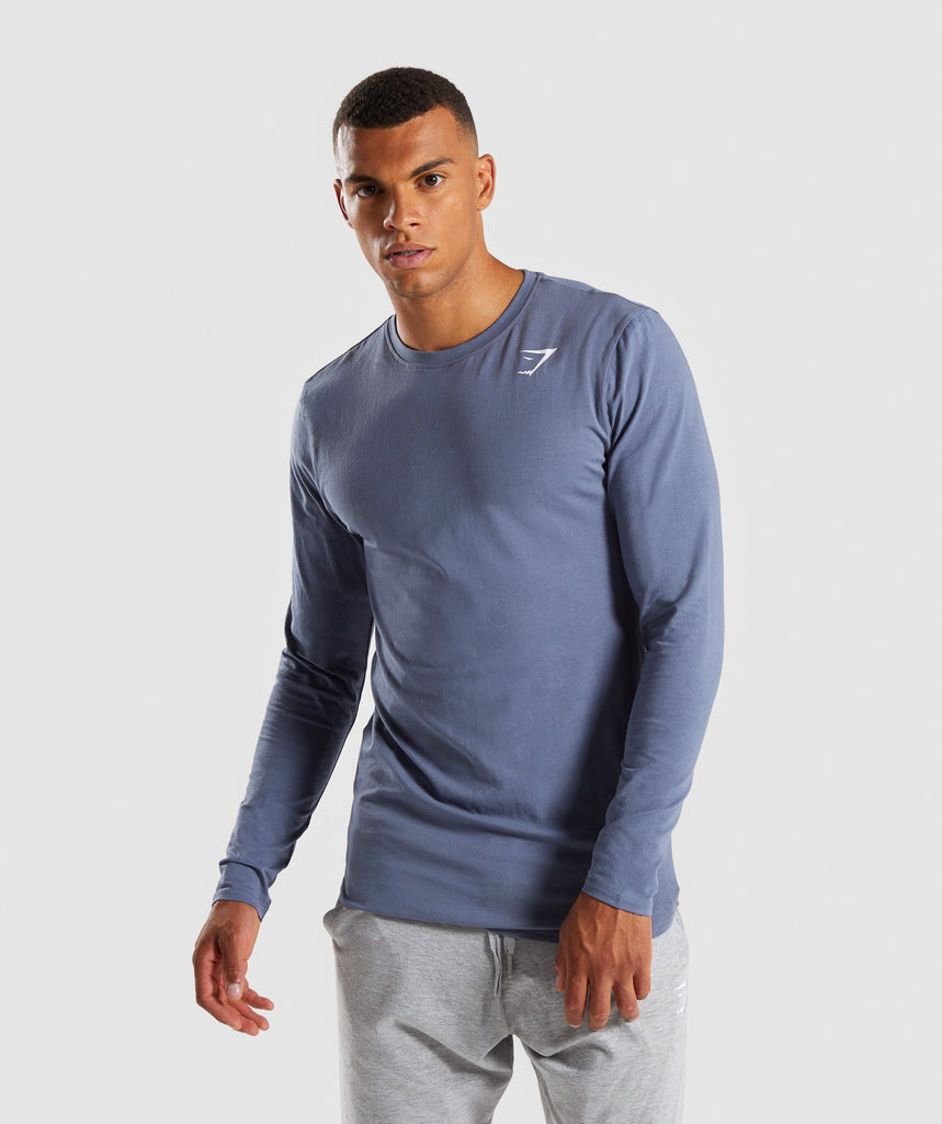 Gymshark Ark Long Sleeve T-Shirt - Aegean Blue 1
