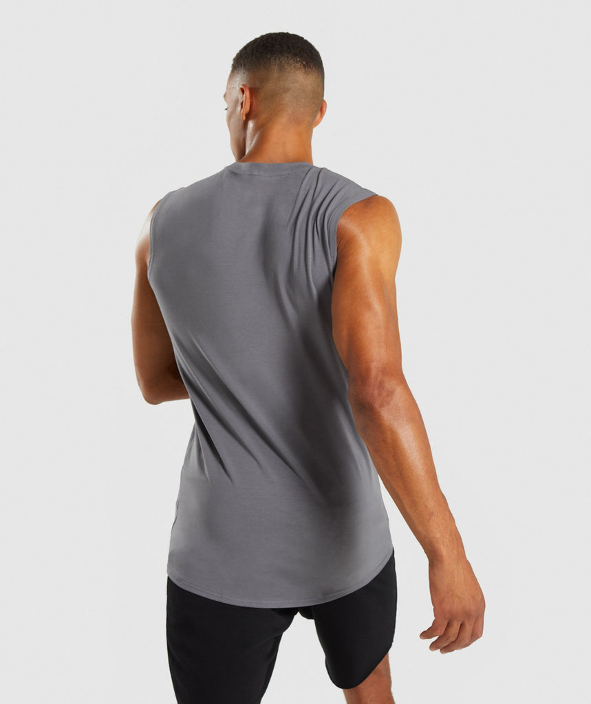 Gymshark Ark Sleeveless T-Shirt - Smokey Grey 2