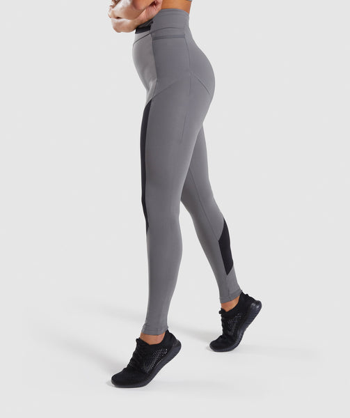 Gymshark Asymmetric Leggings - Smokey Grey/Black 4