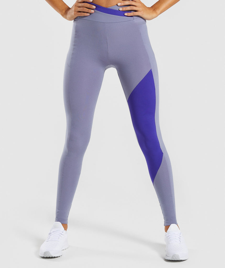 Gymshark Asymmetric Leggings - Steel Blue/Indigo 1