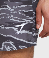 Gymshark Atlantic Swim Shorts - Grey Camo 11
