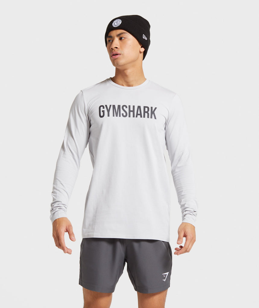 Gymshark Base Long Sleeve T-Shirt - Platinum Grey 1