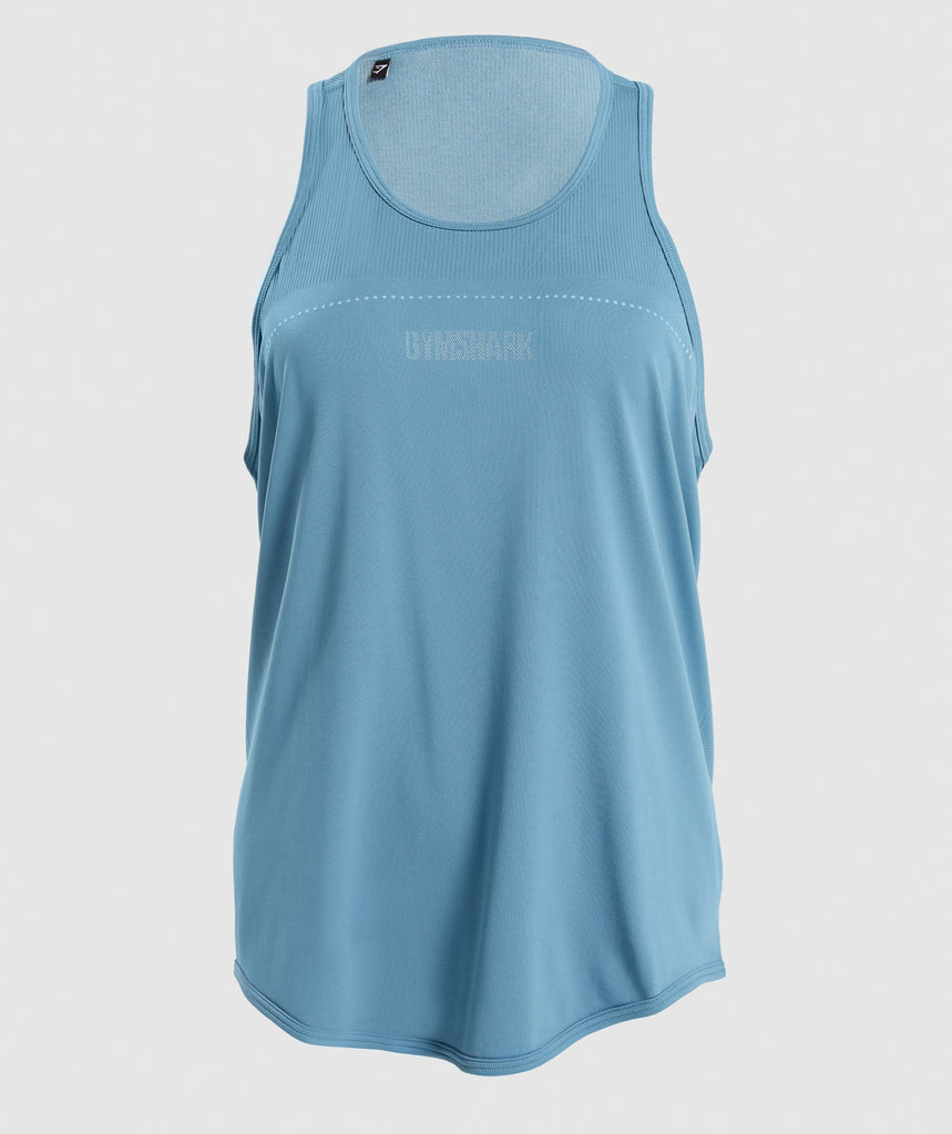 Gymshark Breeze Lightweight Seamless Vest - Blue Stone 1
