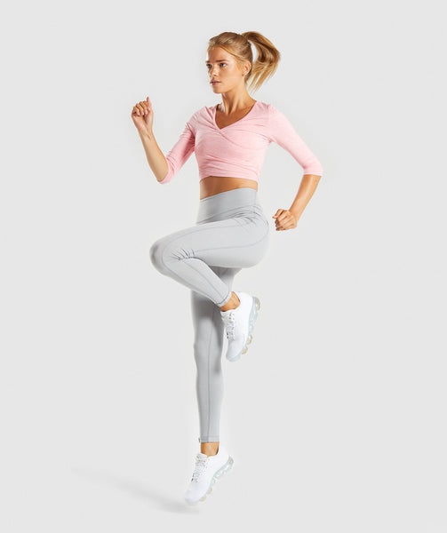 Gymshark Ballet Crop Top - Peach Marl 3