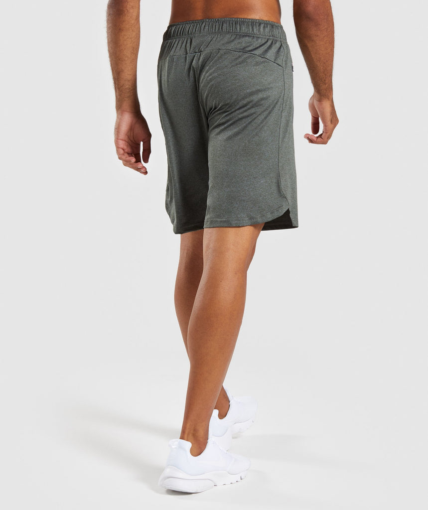 Gymshark Basic Training Shorts - Woodland Green Marl 2