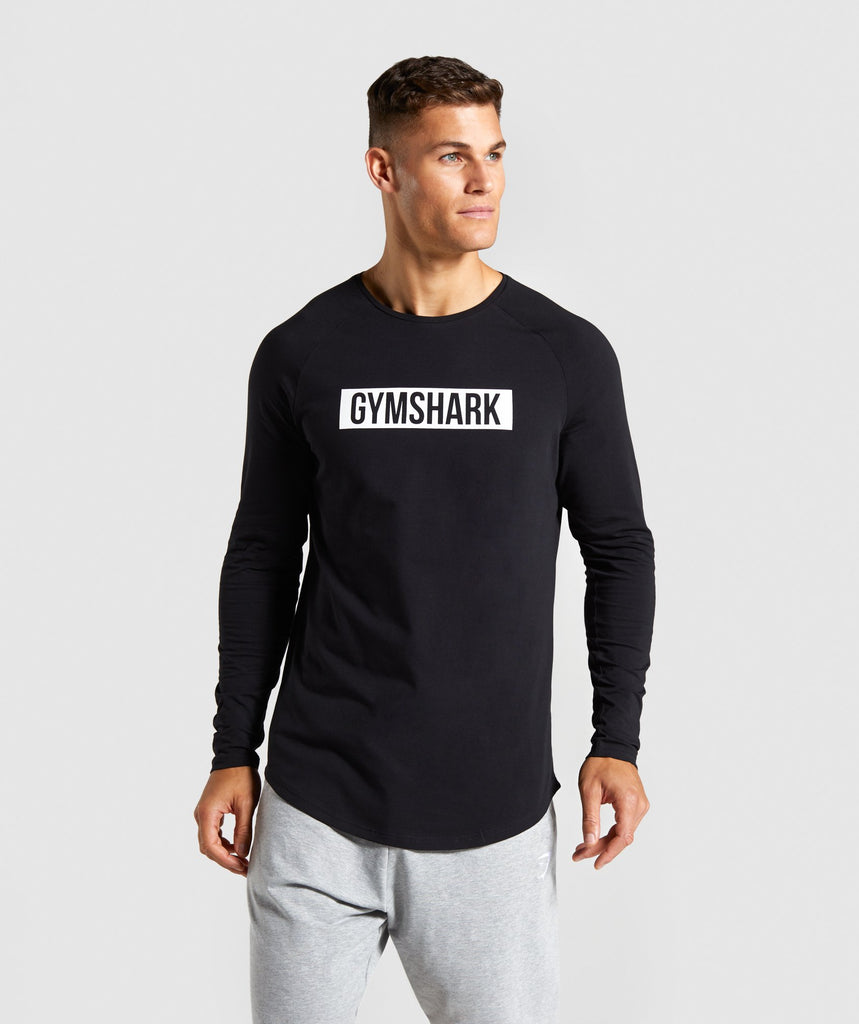 Gymshark Block Long Sleeve T-Shirt - Black/White 1
