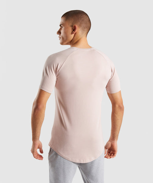 Gymshark Block T-Shirt - Chalk Nude 1