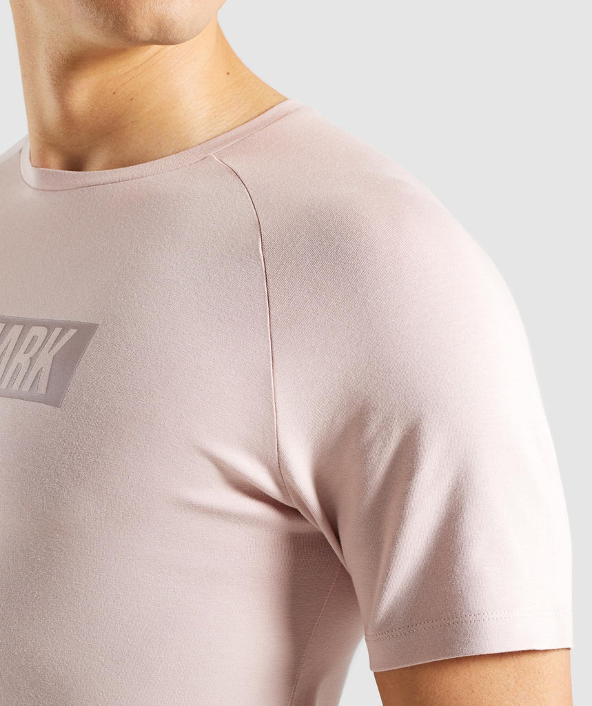 Gymshark Block T-Shirt - Chalk Nude 6
