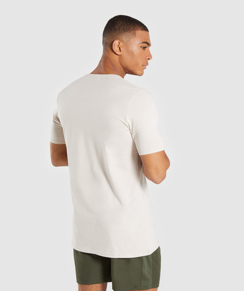 Gymshark Bold T-Shirt - Washed Beige 2