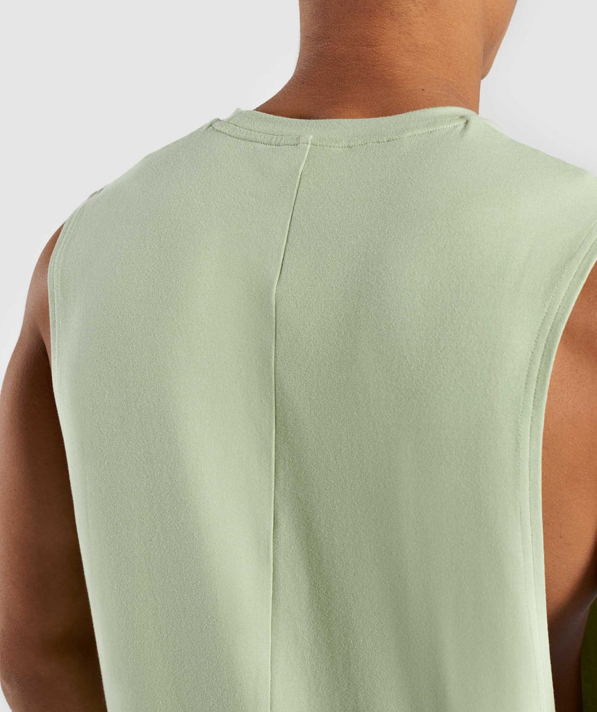 Gymshark Bold Graphic Drop Armhole Tank - Green 5